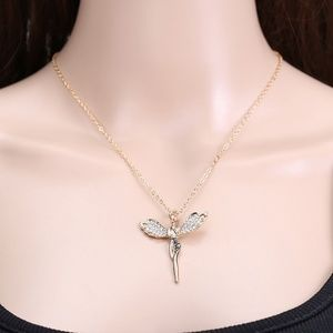 Crystal Angel Wing Heart Pendant Necklace NWOT